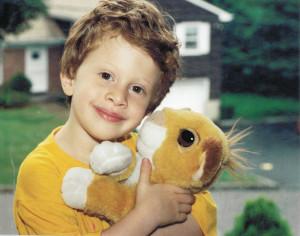 Andrew with Simba