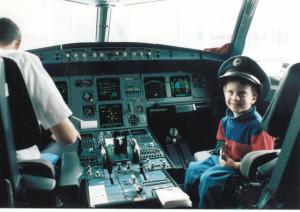 Andrew in cockpit