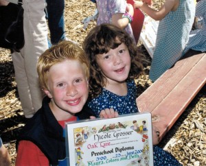 Andrew was very proud of his little sister's preschool graduation. He was, and still is, very proud of everything she accomplishes in her life. He was so proud when she got accepted to play college hockey. He, sadly, never got to see her dreams realized though.