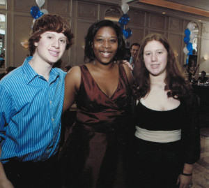 Andrew, Nicole and Keisha. Keisha was with us for ten years loving and raising our kids.